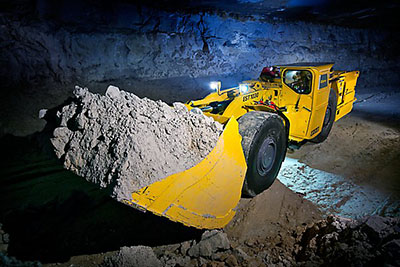 Underground electric loaders